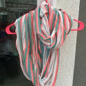 Stripes lightweight infinity scarf